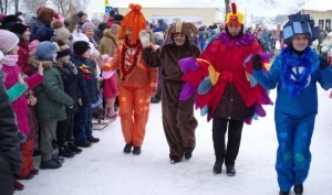 В Сенно прошел новогодний парад
