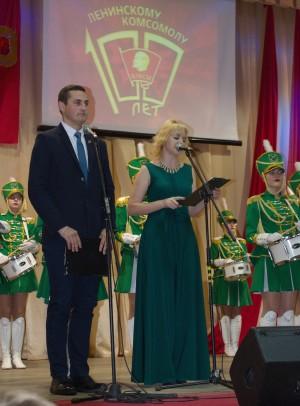 Торжественное мероприятие, посвященное 100-летию Всесоюзного Ленинского Коммунистического Союза Молодежи. Фото А.Карбовского